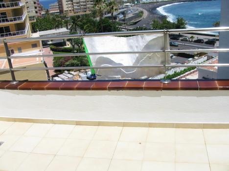 Terrace with ocean view in Puerto de la Cruz.