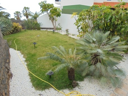 Large detached duplex with garden and terrace.