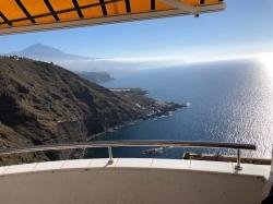 Tenerife, Apartamento en La Matanza de Acentejo, Apartamento con maravillosa vista panorámica al mar y Teide,