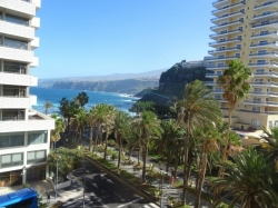 Teneriffa, Studio in Puerto de la Cruz, Schönes Studio-Apartment! sonnige Terrasse, Blick auf das Meer