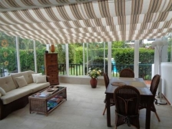 Tenerife, House/Chalet in Puerto de la Cruz, Spectacular family house with cosy glazed terrace as a second living roomPool,garden,garage