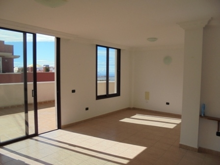 Sunny unfurnished penthouse with large terrace.