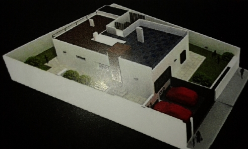 To build soon! Chalet on one floor with roof terrace near the coast with sea views!